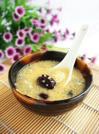 小米紅棗雪梨粥的做法