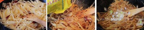 酸辣土豆丝卷饼的家常做法