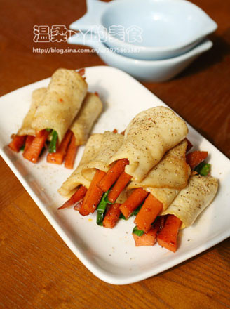 白靈菇烤腸卷的做法