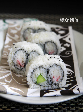 雙拼里卷壽司的做法