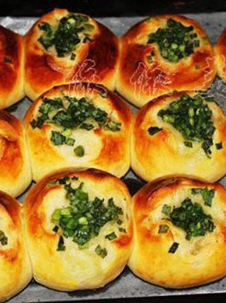 蔥香面包的做法