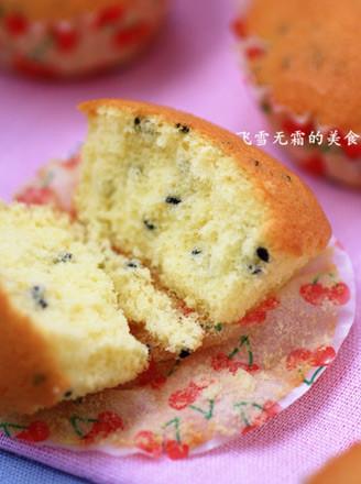 黑芝麻小海綿蛋糕的做法