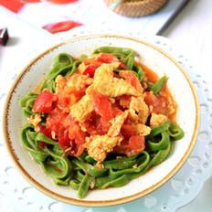 番茄炒蛋菠菜面