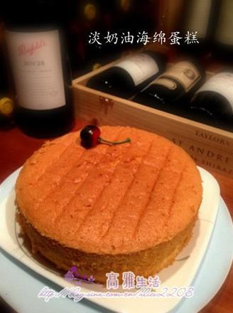 淡奶油海綿蛋糕的做法