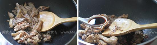 蒜苗炒鸭肉的做法图解