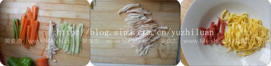 鸡丝生菜卷的做法图解