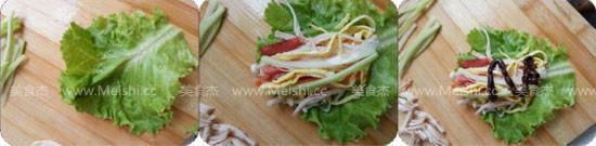 鸡丝生菜卷的家常做法