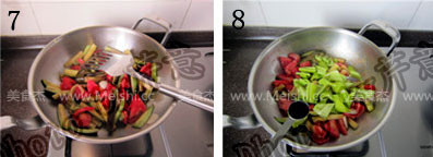 西红柿尖椒炒茄子的简单做法