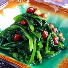 蒜汁果仁菠菜