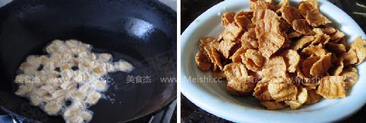 香脆糖醋荸荠素肉片的简单做法
