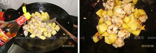 土豆焖鸡块的家常做法