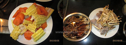茶树菇龙骨煲玉米汤的做法图解