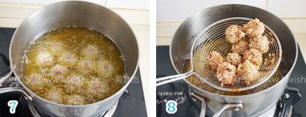 面包糠滚肉圆的简单做法