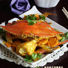 梭子蟹燉南瓜