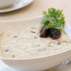 皮蛋青菜瘦肉粥