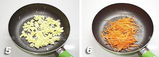 胡萝卜炒鸡蛋的家常做法