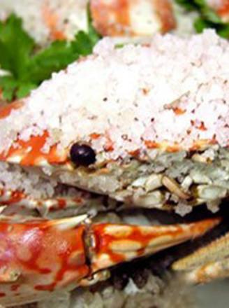 营养海盐焗蟹的做法