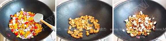 肉丁时蔬炒疙瘩怎么吃
