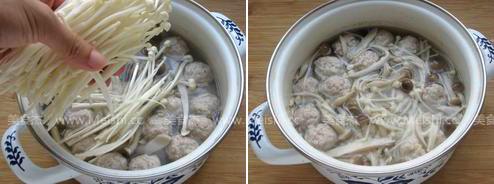 菌菇肉丸子汤怎么吃