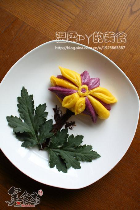 南瓜菊花花卷怎样做