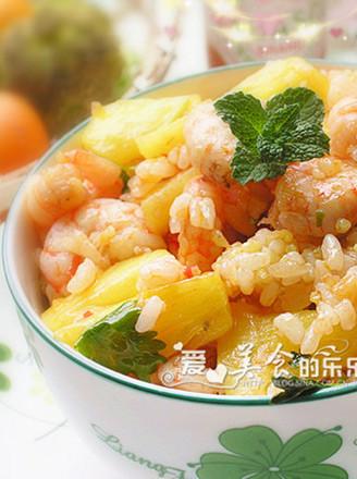 酸辣菠萝虾炒饭的做法