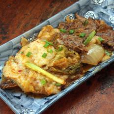 辣白菜牛肉炒年糕