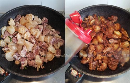 土豆烧牛筋的家常做法