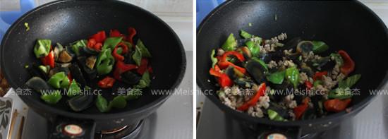 辣椒肉末炒皮蛋的简单做法