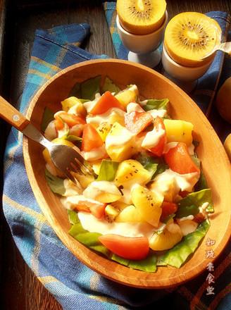 蔬果暖沙拉的做法