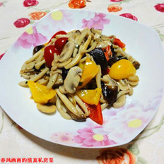 黑椒葱油炒杂菇