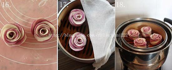 紫薯玫瑰花卷怎么做