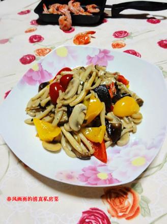 黑椒葱油炒杂菇的做法
