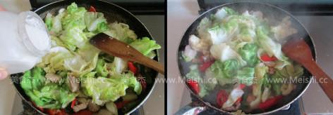 干锅圆白菜的简单做法