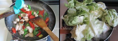 干锅圆白菜的家常做法