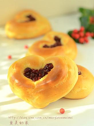 蔓越莓爱心面包的做法
