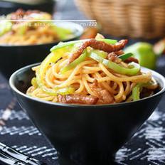 青椒肉丝炒面