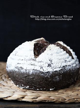 黑米黑芝麻面包的做法