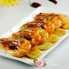 油焖虾烩年糕