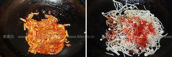 泡菜炒肉片的家常做法