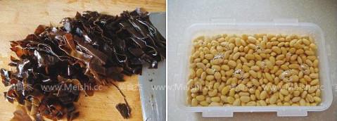 排骨海带酱黄豆的做法图解