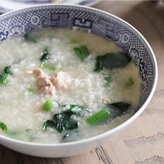 肉丝菠菜香米粥