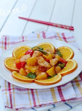 橙香酸甜鱼块的做法