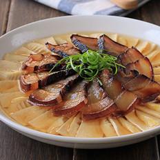 酱油肉百叶蒸春笋