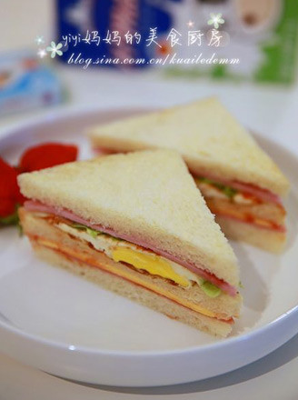 火腿鸡蛋三明治的做法