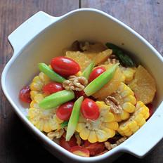 油醋汁核桃蔬果沙拉