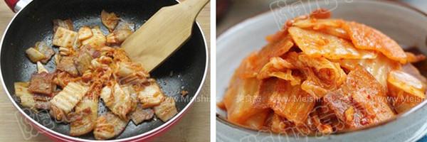 辣白菜炒五花肉的简单做法