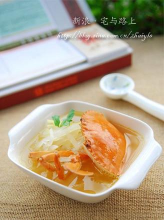 萝卜丝煮螃蟹的做法