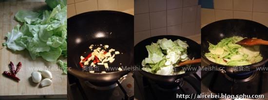 炝炒圆白菜的做法大全
