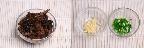 豆豉鲮鱼油麦菜的做法图解