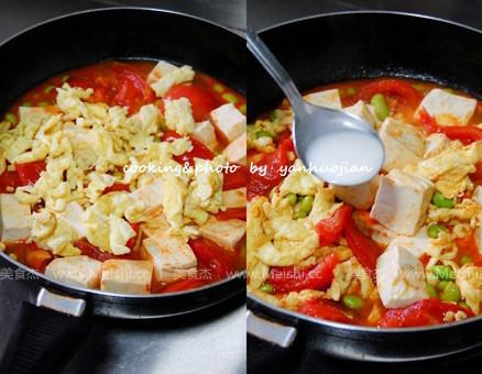 番茄炒豆腐的简单做法